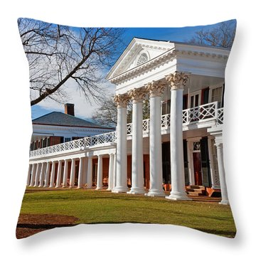 Academical Village At The University Of Virginia Throw Pillow