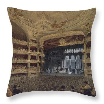Academie Imperiale De Musique Paris Throw Pillow