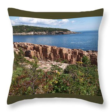 Acadia Maine Throw Pillow by Catherine Gagne