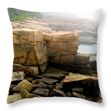 Acadia Morning 7647 Throw Pillow by Brent L Ander