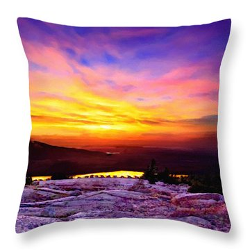 Acadia National Park Cadillac Mountain Sunrise Forsale Throw Pillow