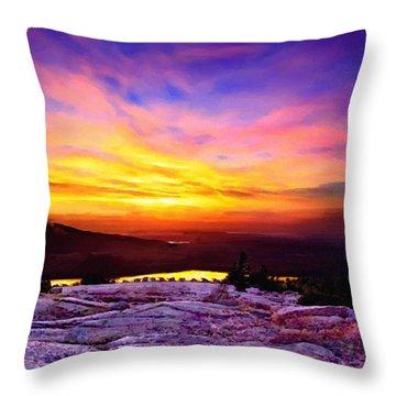 Acadia National Park Cadillac Mountain Sunrise Forsale Throw Pillow