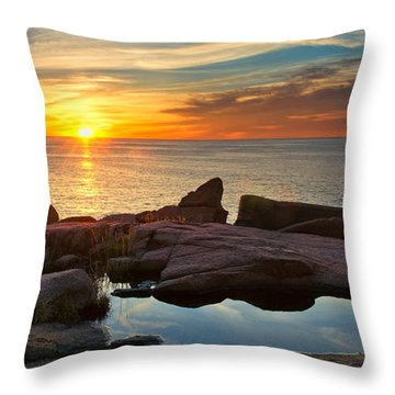 Acadia Sunrise Throw Pillow