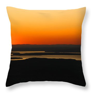 Acadia Sunset Throw Pillow by Olivier Le Queinec
