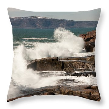 Acadia Waves 4198 Throw Pillow by Brent L Ander