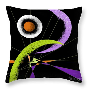 Accidental Egg Throw Pillow by Carol Jacobs