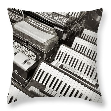 Accordions Throw Pillow