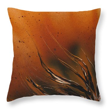 Accumulation Plant Throw Pillow