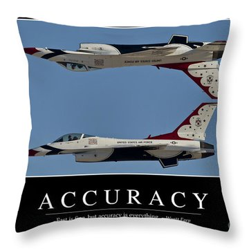 Accuracy Inspirational Quote Throw Pillow by Stocktrek Images