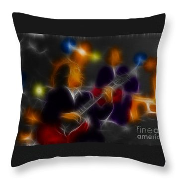 Acdc-angus-95-e5-fractal Throw Pillow by Gary Gingrich Galleries
