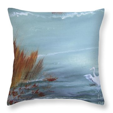Achieving Stillness  Throw Pillow by Laurianna Taylor