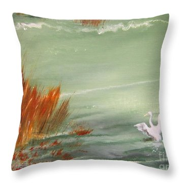 Achieving Stillness2 Throw Pillow