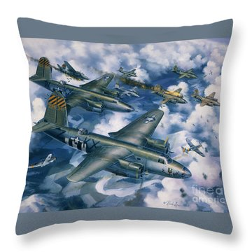 Achtung Zweimots Throw Pillow by Randy Green