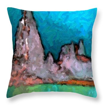 Acid Lake Throw Pillow