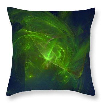 Acidic Voulge Throw Pillow
