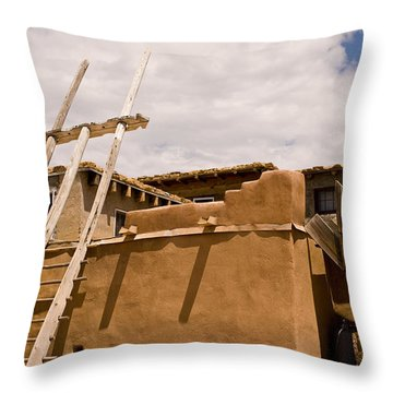 Acoma Building Throw Pillow