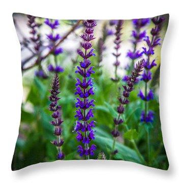 Aconitum Napellus Throw Pillow
