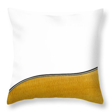 Acoustic Curve Throw Pillow