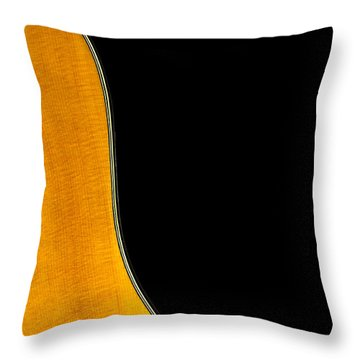 Acoustic Curve In Black Throw Pillow by Bob Orsillo