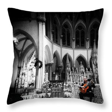 Acoustic Grace Throw Pillow