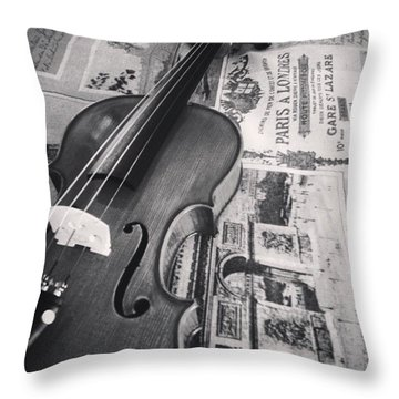 One Day I'll Make This Sound Good Throw Pillow by Sarah Field