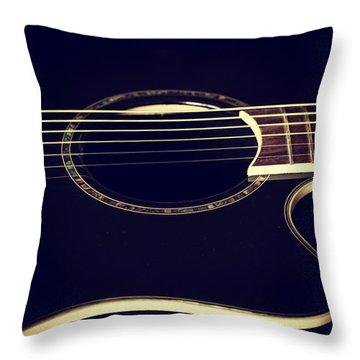 Acoustically Sound Throw Pillow by Karol Livote