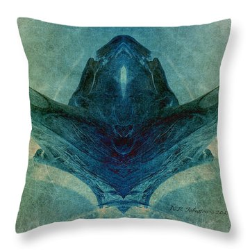 Acrobat 2 Throw Pillow by WB Johnston