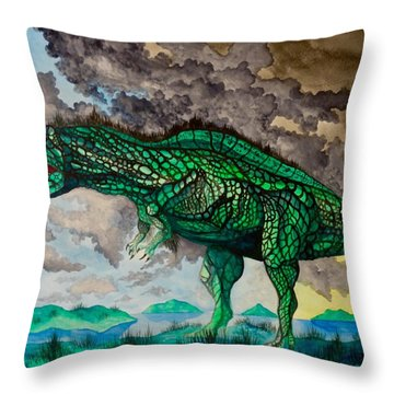 Acrocanthosaurus Throw Pillow