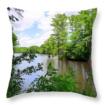 Throw Pillow featuring the photograph Across Crystal Lake by Jim Whalen