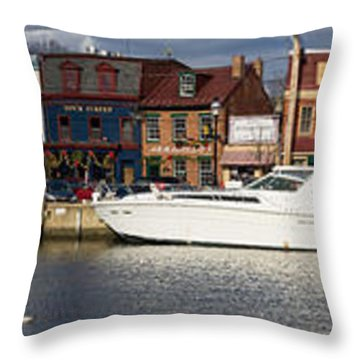 Across Ego Alley Panorama Throw Pillow by Benjamin Reed