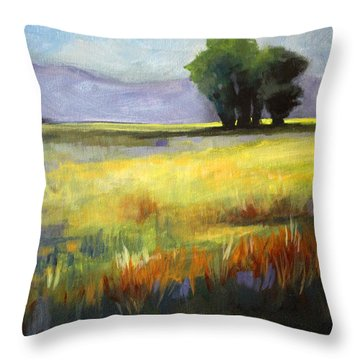 Across The Field Throw Pillow