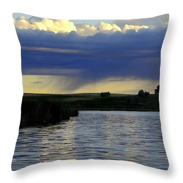 Throw Pillow featuring the photograph Across The Lake by Clarice  Lakota