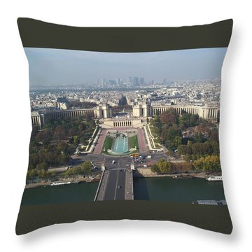 Throw Pillow featuring the photograph Across The Seine by Barbara McDevitt