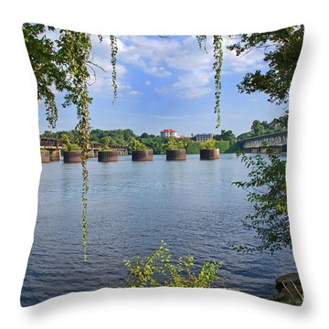 Across The Tennessee Throw Pillow