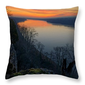 Across The Wide Missouri Throw Pillow