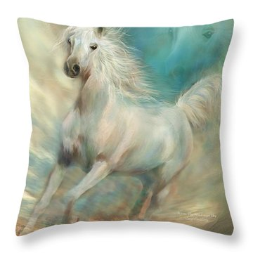 Across The Windswept Sky Throw Pillow