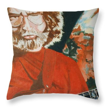 Throw Pillow featuring the painting Acrylic Jerry by Stuart Engel