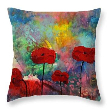 Acrylic Msc 078 Throw Pillow