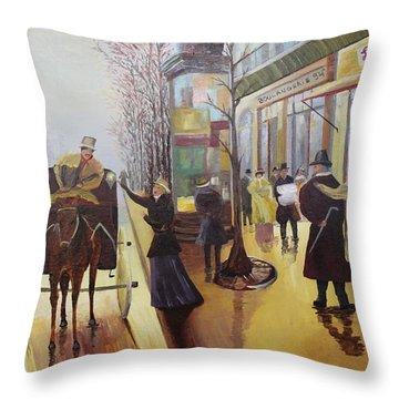 Acrylic Msc 178  Throw Pillow