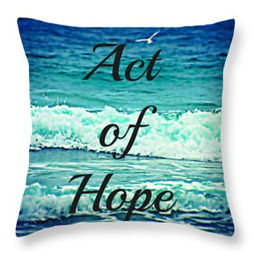 Act Of Faith Hope Love Collage Throw Pillow by Sharon Soberon