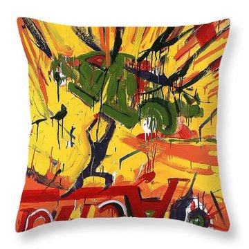 Action Abstraction No. 1 Throw Pillow by David Leblanc