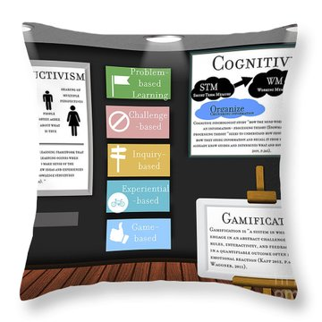 Active Learning Throw Pillow