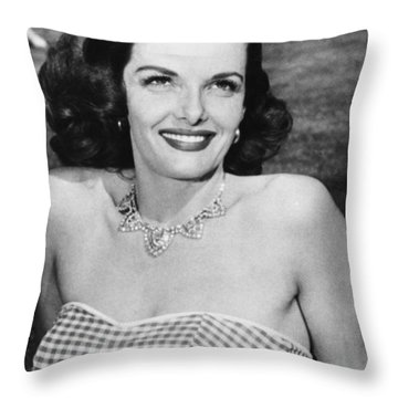 Actress Jane Russell Throw Pillow