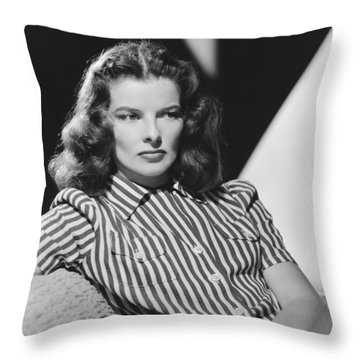 Actress Katharine Hepburn Throw Pillow