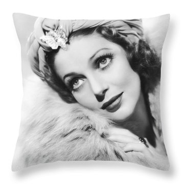 Actress Loretta Young Throw Pillow