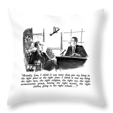Actually, Lou, I Think It Was More Than Throw Pillow