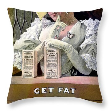 Ad For Patent Medicines 1895 Throw Pillow by Science Source