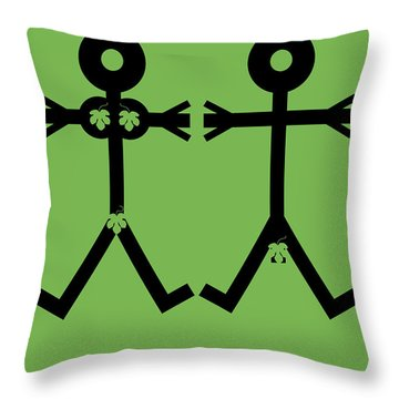 Adam And Eve Icon Throw Pillow by Thisisnotme