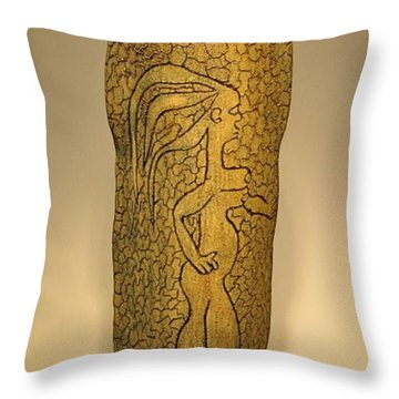 Adam And Eve Throw Pillow
