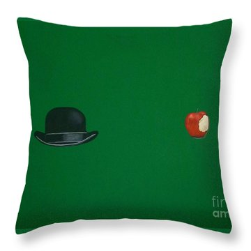 Adam And Eve Throw Pillow by Venus